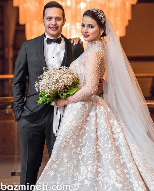 مدل عکس عروس و داماد آتلیه