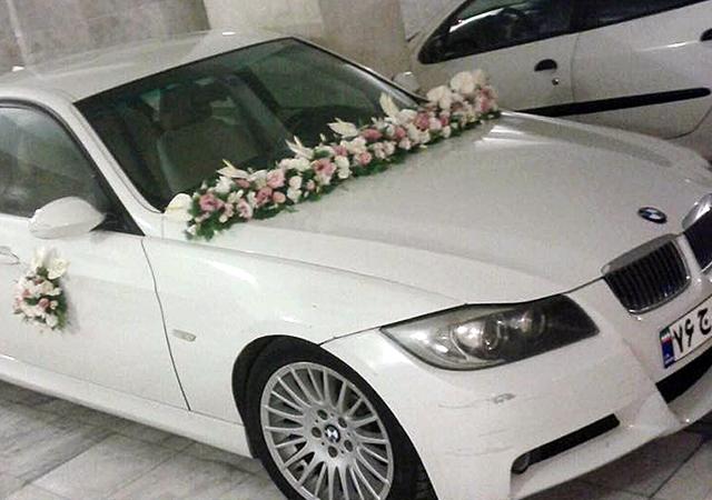 تزئین ماشین عروس ایرانیان-بزمینه