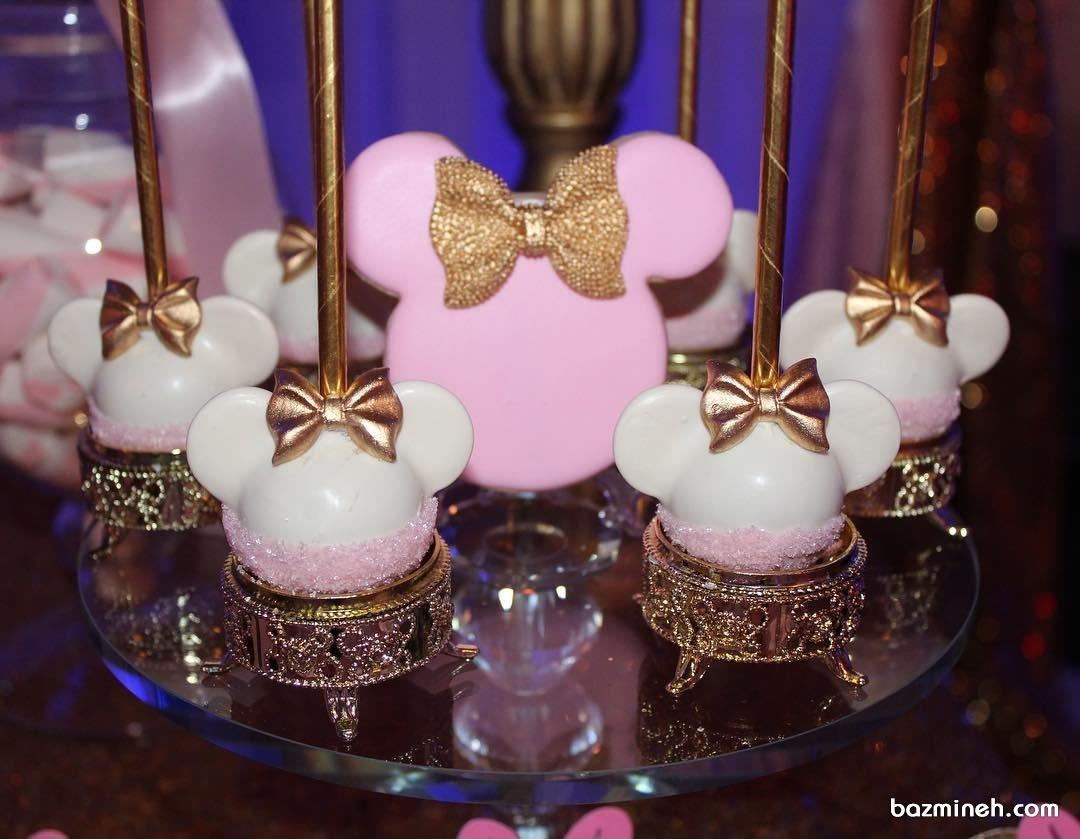 پاپ کیک های مینی مناسب تولد با تم مینی موس