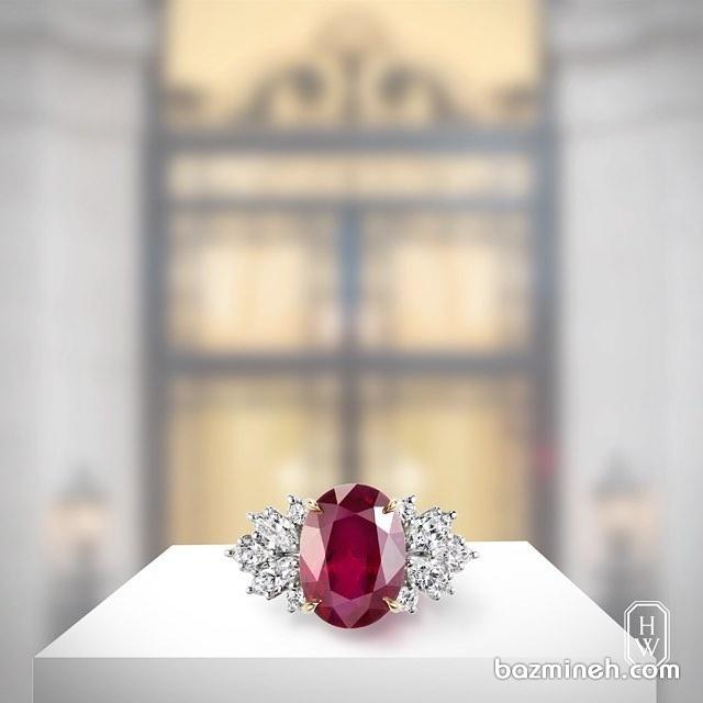انگشتر زیبای یاقوت قرمز مناسب برای حلقه نامزدی