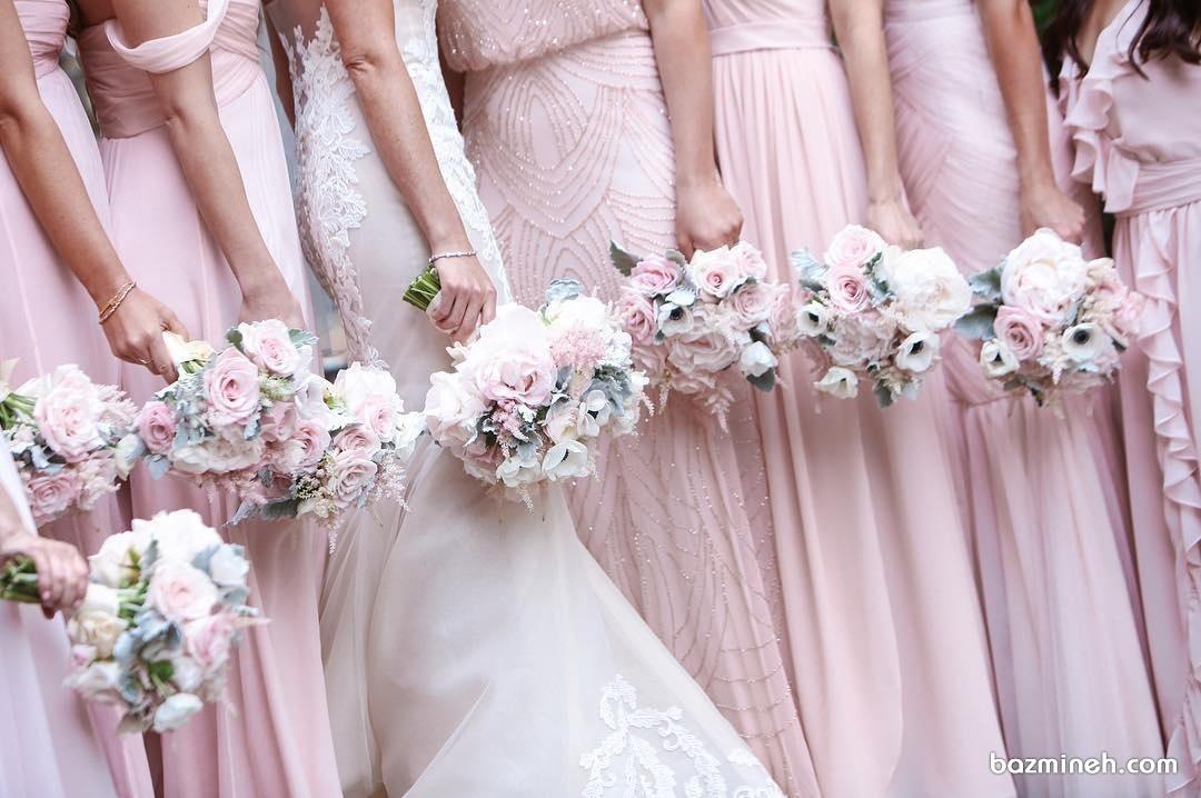دسته گل های ست و زیبای عروس و ساق دوش ها