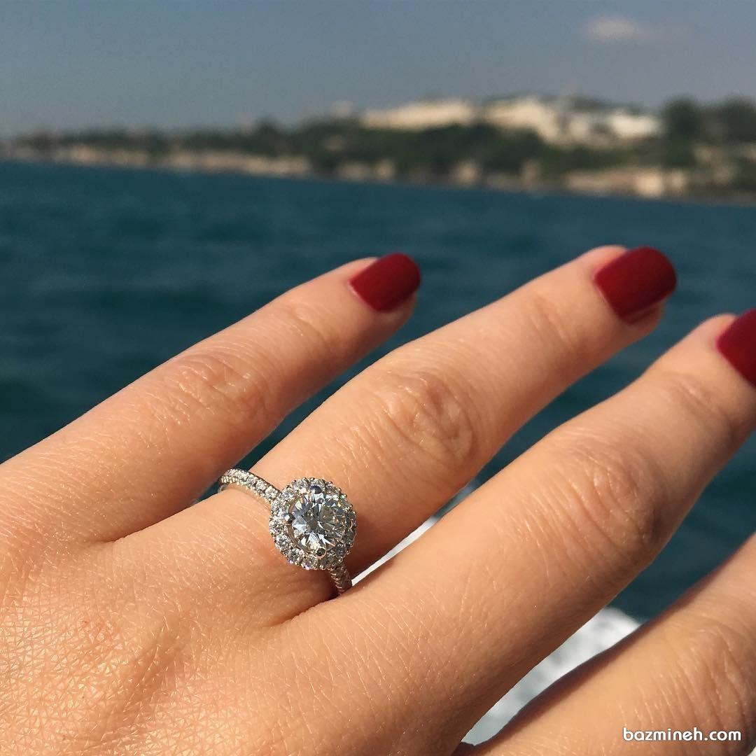 انگشتر زیبا و شیک مناسب برای حلقه نامزدی