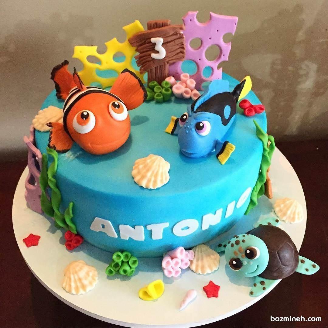 کیک جشن تولد با طرح نمو