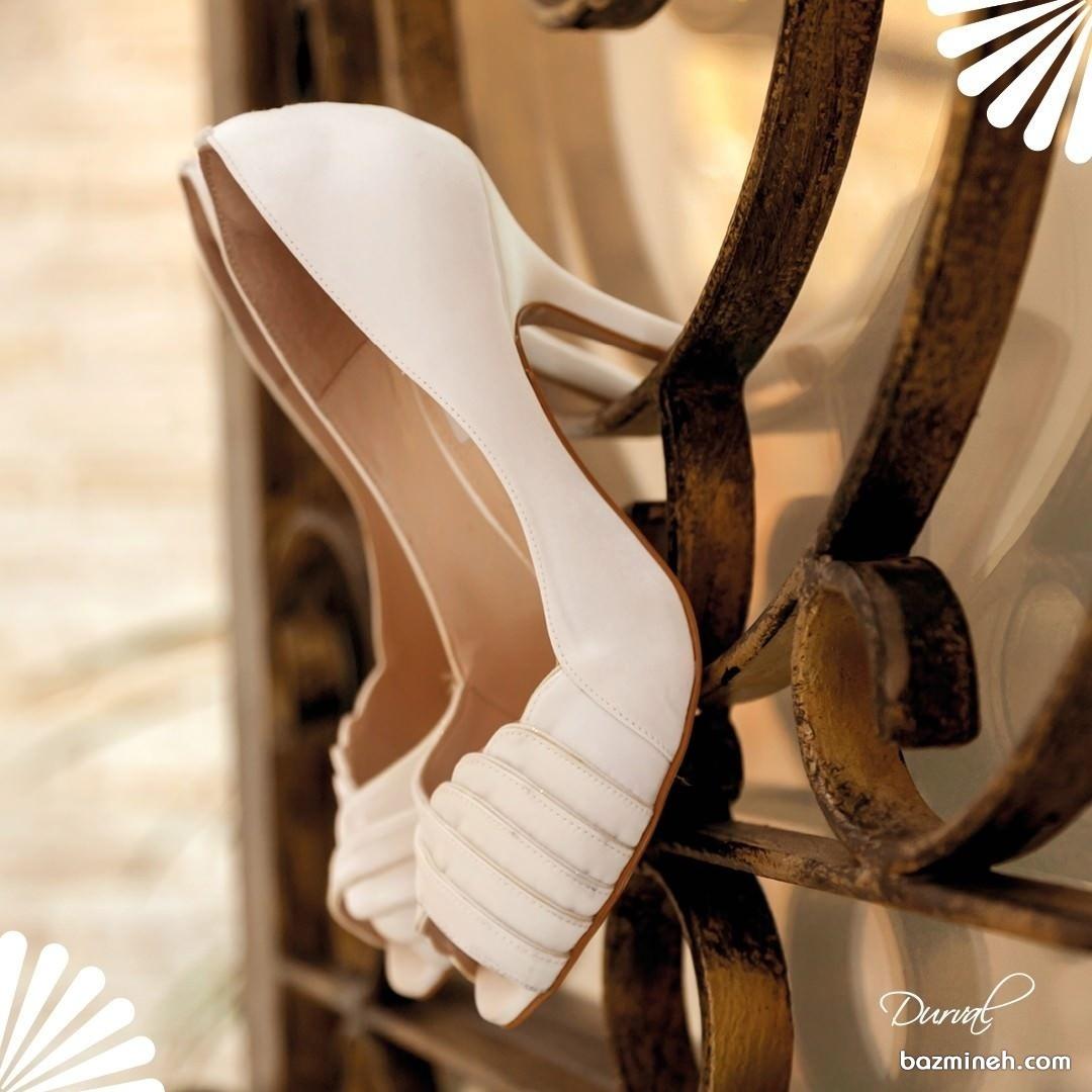 کفش پاشنه بلند سفید مناسب برای عروس خانم های شیک