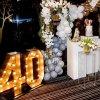 دکوراسیون و بادکنک آرایی جشن تولد چهل سالگی