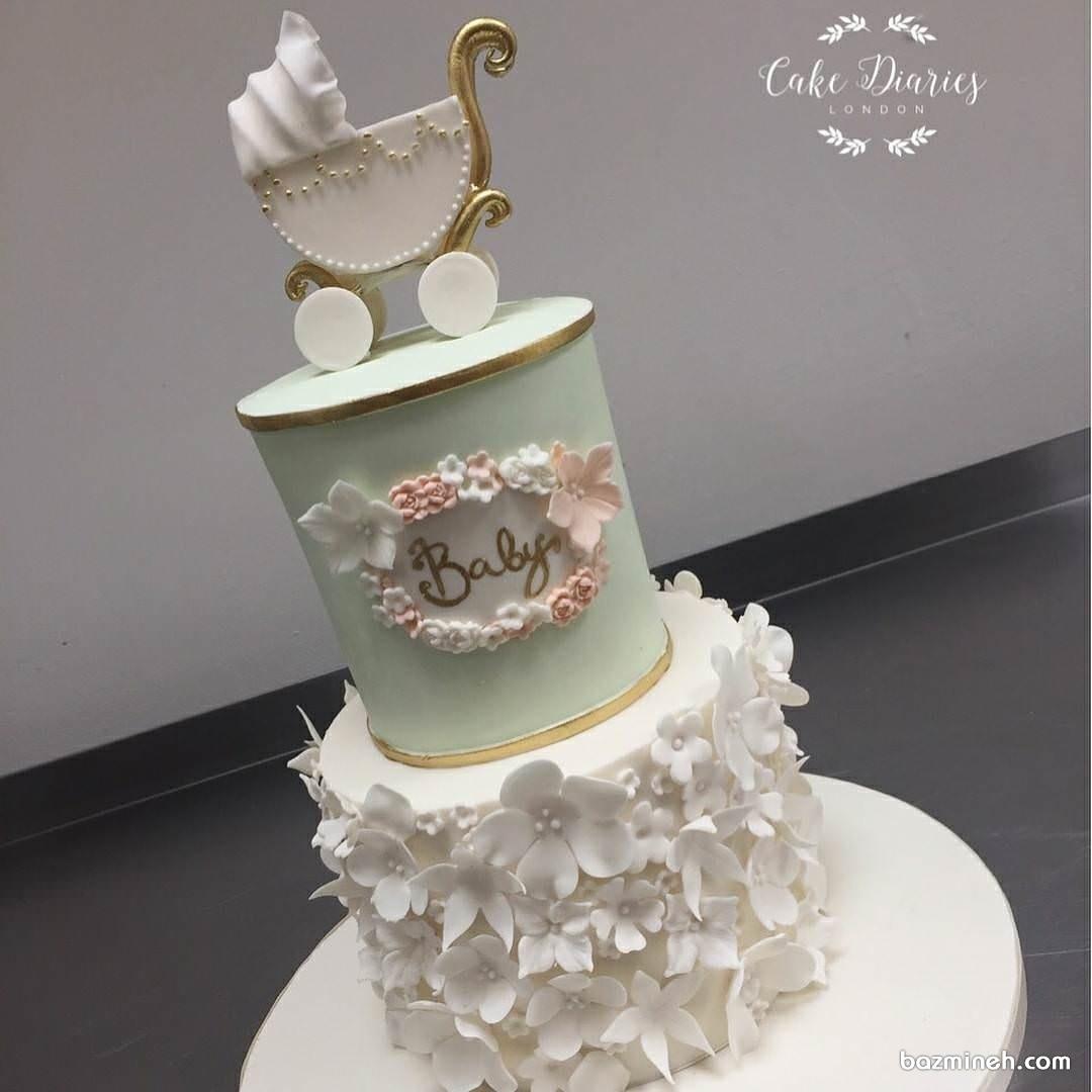 کیک زیبا و شیک جشن بیبی شاور