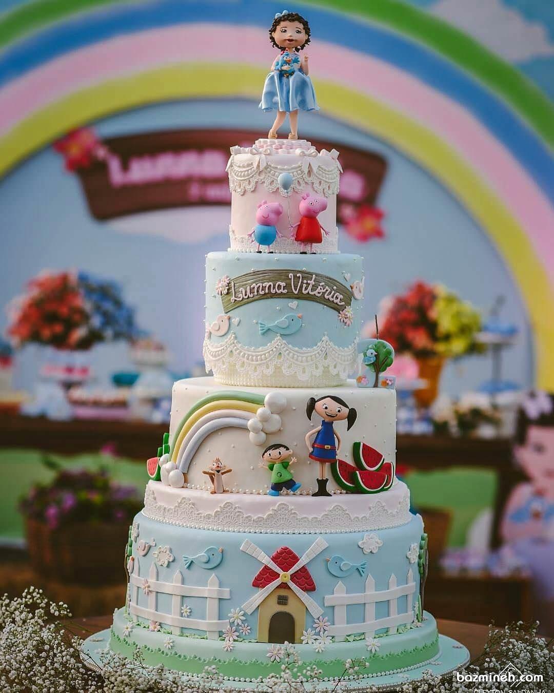 کیک زیبای عروسکی جشن تولد
