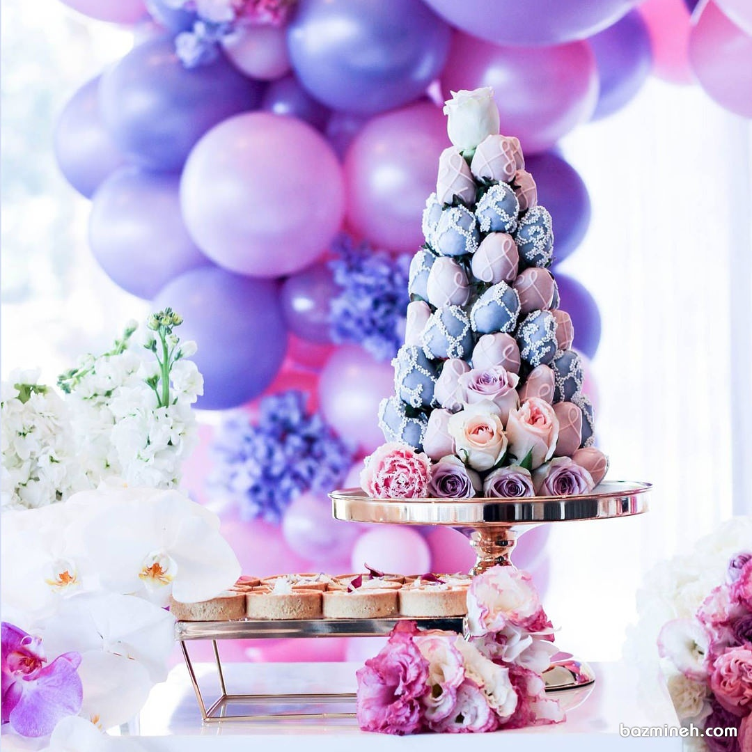 توت فرنگی با روکش شکلات پیشنهادی جالب برای میز پذیرایی