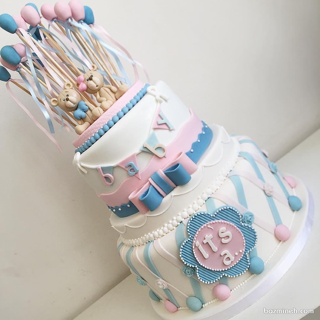 کیک جالب جشن بیبی شاور