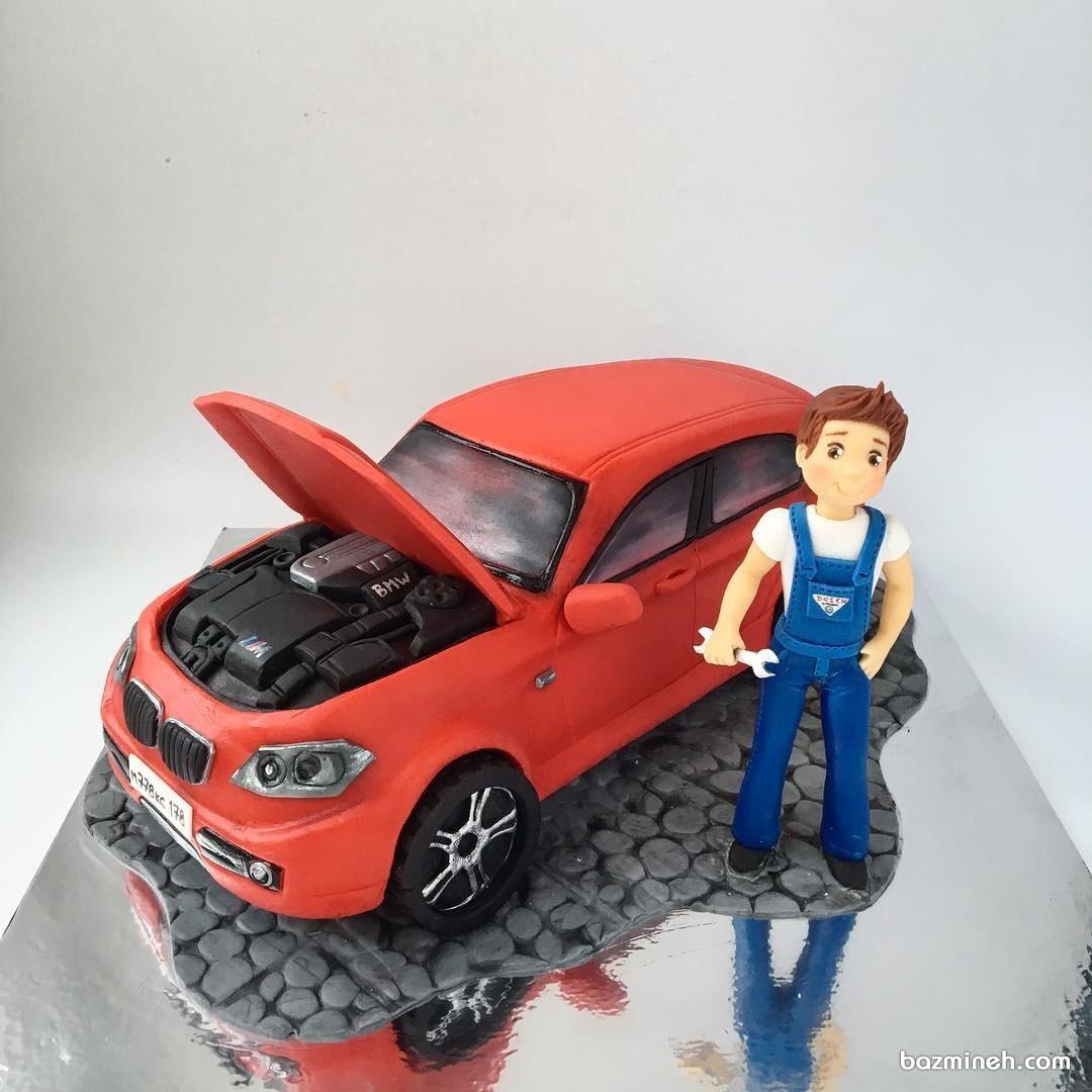 کیک فوندانت ماشین مناسب برای جشن تولد آقا کوچولوها
