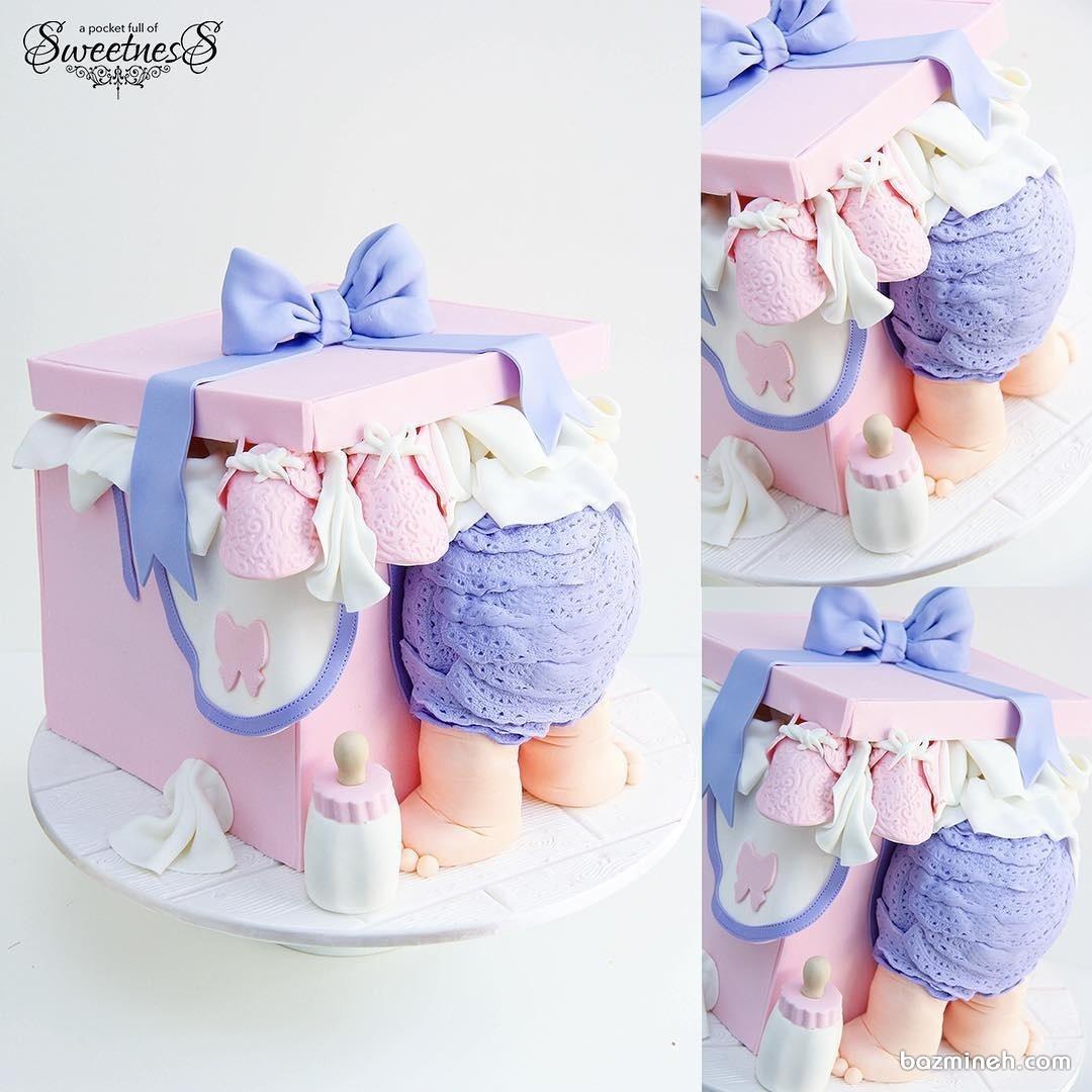 کیک بامزه جشن بیبی شاور