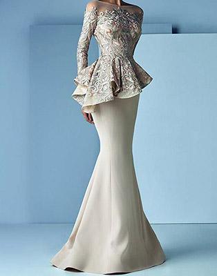 لباس مجلسی زورانی-بزمینه
