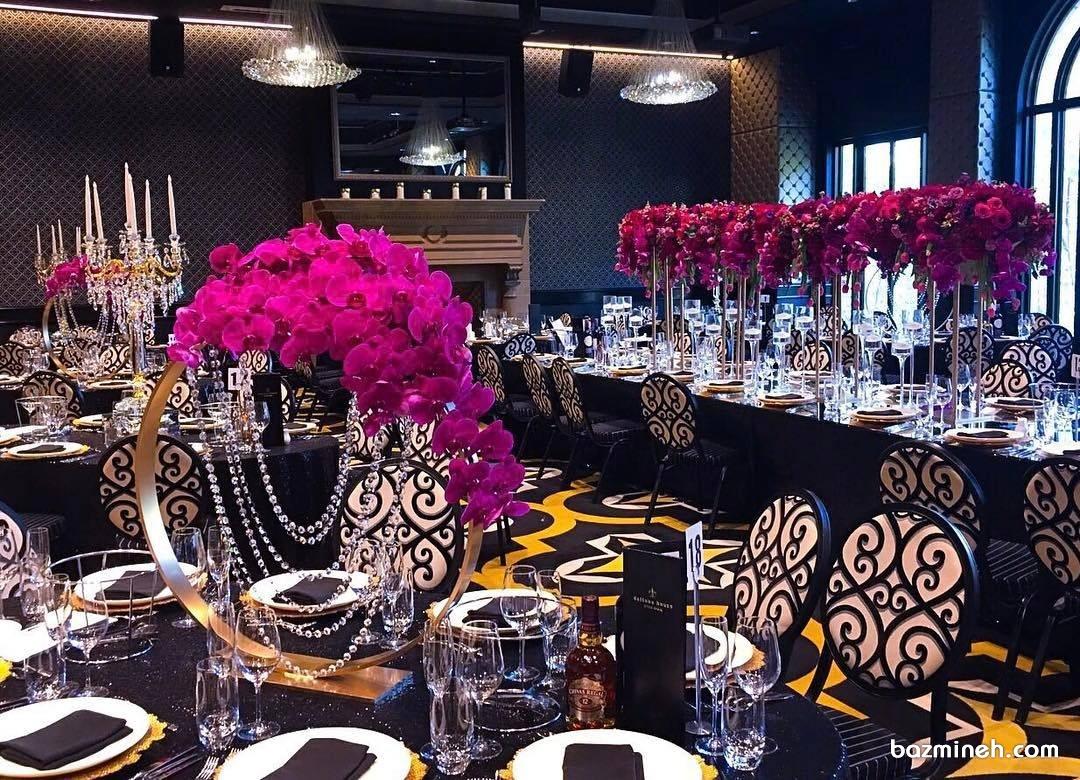 استفاده از رنگ مشکی طلایی در دکوراسیون ایده ای جالب برای برگزاری مراسم باشکوه
