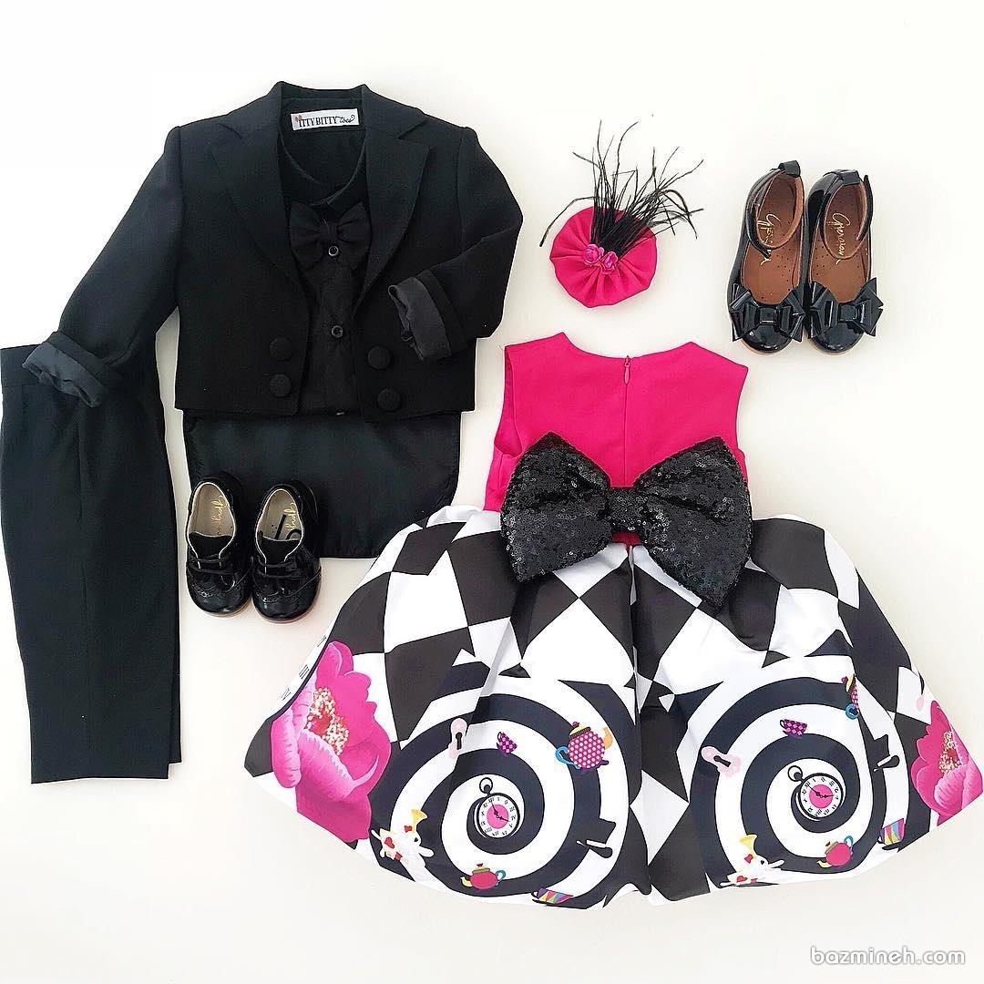 ست لباس مجلسی دخترانه و پسرانه مناسب برای جشن تولد دوقلوها