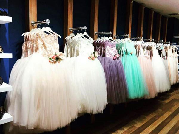 لباس جشن تولد کودک دخترونه Merci mama-بزمینه