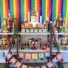 دکوراسیون شاد و رنگی جشن تولد کودک با تم رنگارنگ