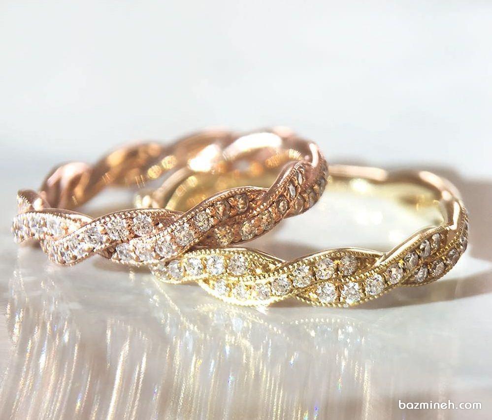 انگشتر زیبا و ظریف نگین دار مناسب برای جشن نامزدی