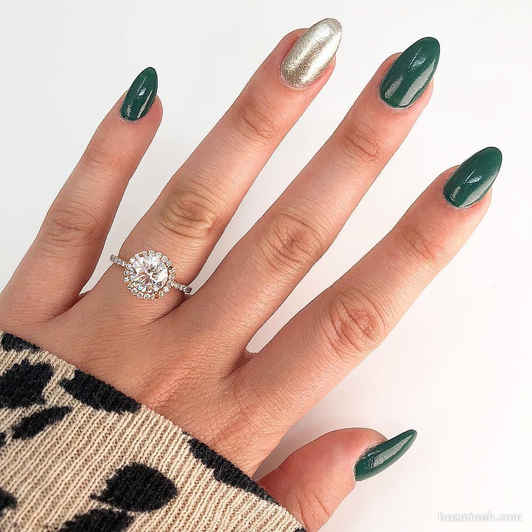 انگشتر زیبا و ظریف الماس با برش برلیان (Brilliant) مناسب برای حلقه نامزدی