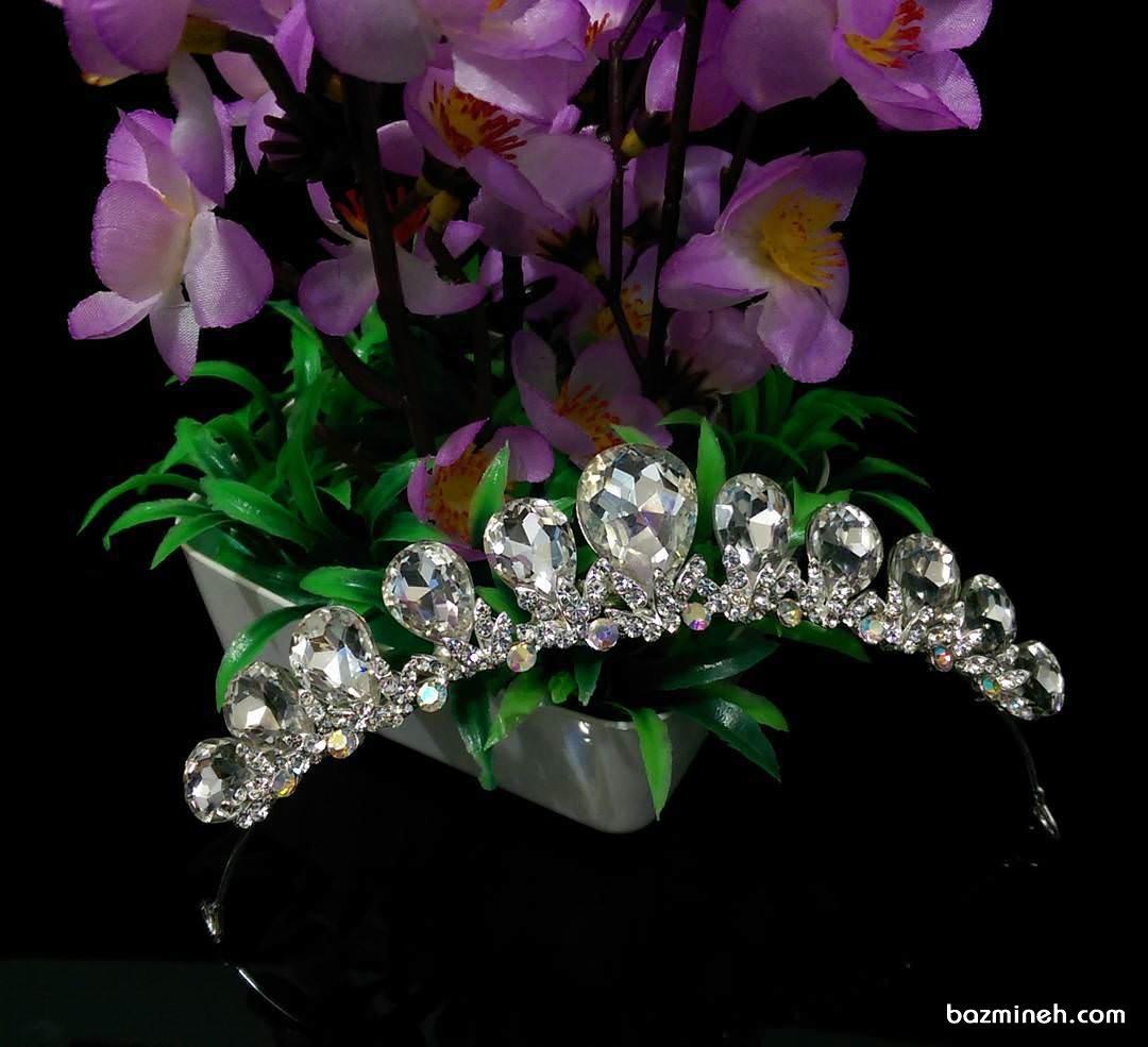 مدل تاج عروس ظریف مناسب برای شینیون باز
