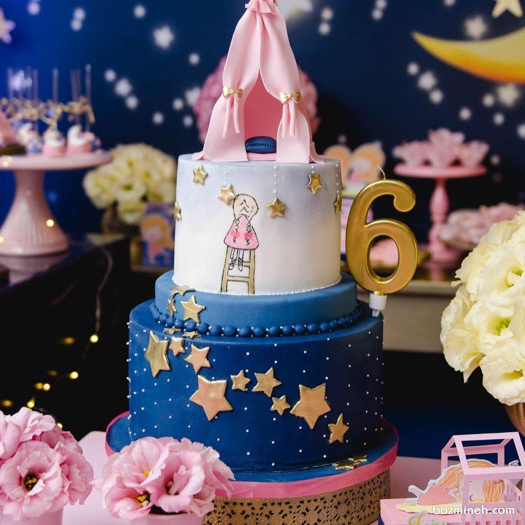 کیک رویایی جشن تولد دخترانه