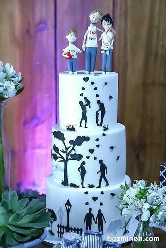 کیک چند طبقه زندگی مناسب برای جشن سالگرد ازدواج