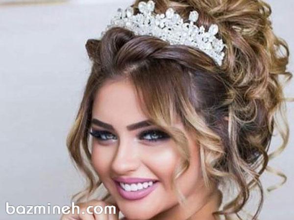 زیبایی چشمگیر با مدل های جدید تاج و تل عروس