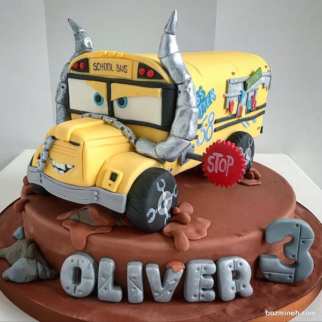 کیک فوندانت جشن تولد پسرانه