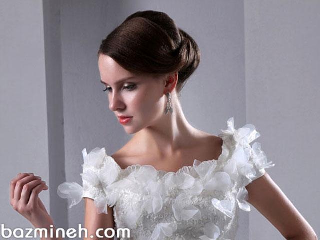 8 مدل لباس عروس رویایی با آستین کوتاه