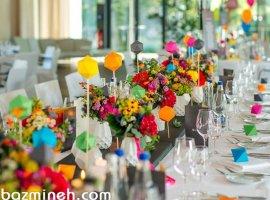 6 ایده برای یک عروسی جذاب و متفاوت با استفاده از رنگها