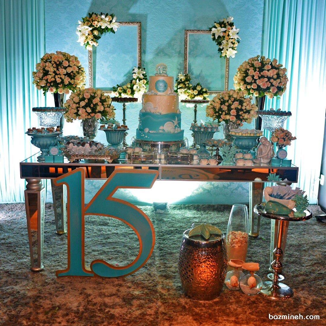 دکوراسیون و گل آرایی فانتزی جشن تولد دخترانه با تم صدف و ستاره دریایی