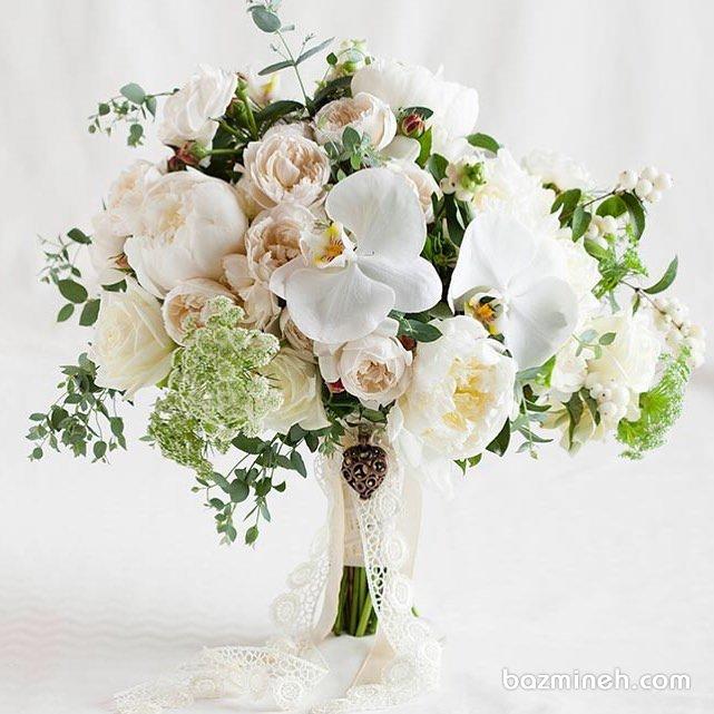دسته گلی زیبا و ظریف برای عروس خانمها با استایل بوهو