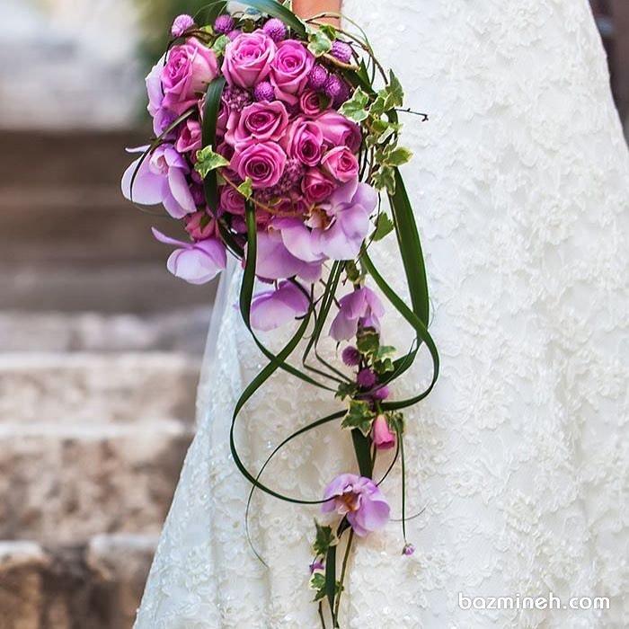 دسته گل زیبا و خاص مناسب عروس خانم ها با استایل یونیک