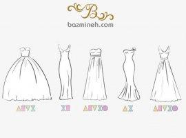 انتخاب مدل لباس عروس بر اساس فرم اندام