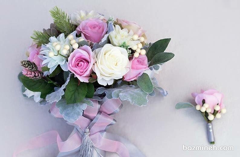 دسته گل زیبا و فانتزی عروس خانم ها با استایلی یونیک