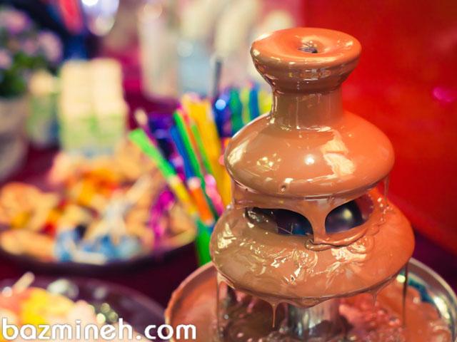 فوت و فنهای آبشار شکلات در جشن