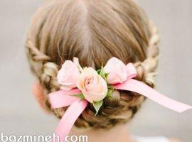 13 مدل موی کودکانه با تزیینات گل