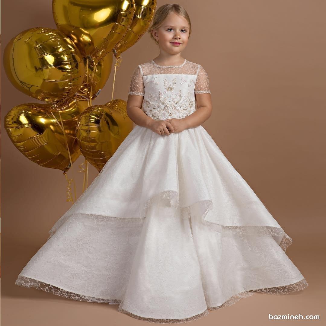 مدل لباس عروس کودکانه مناسب برای ساقدوش کودک (Flower Girl)