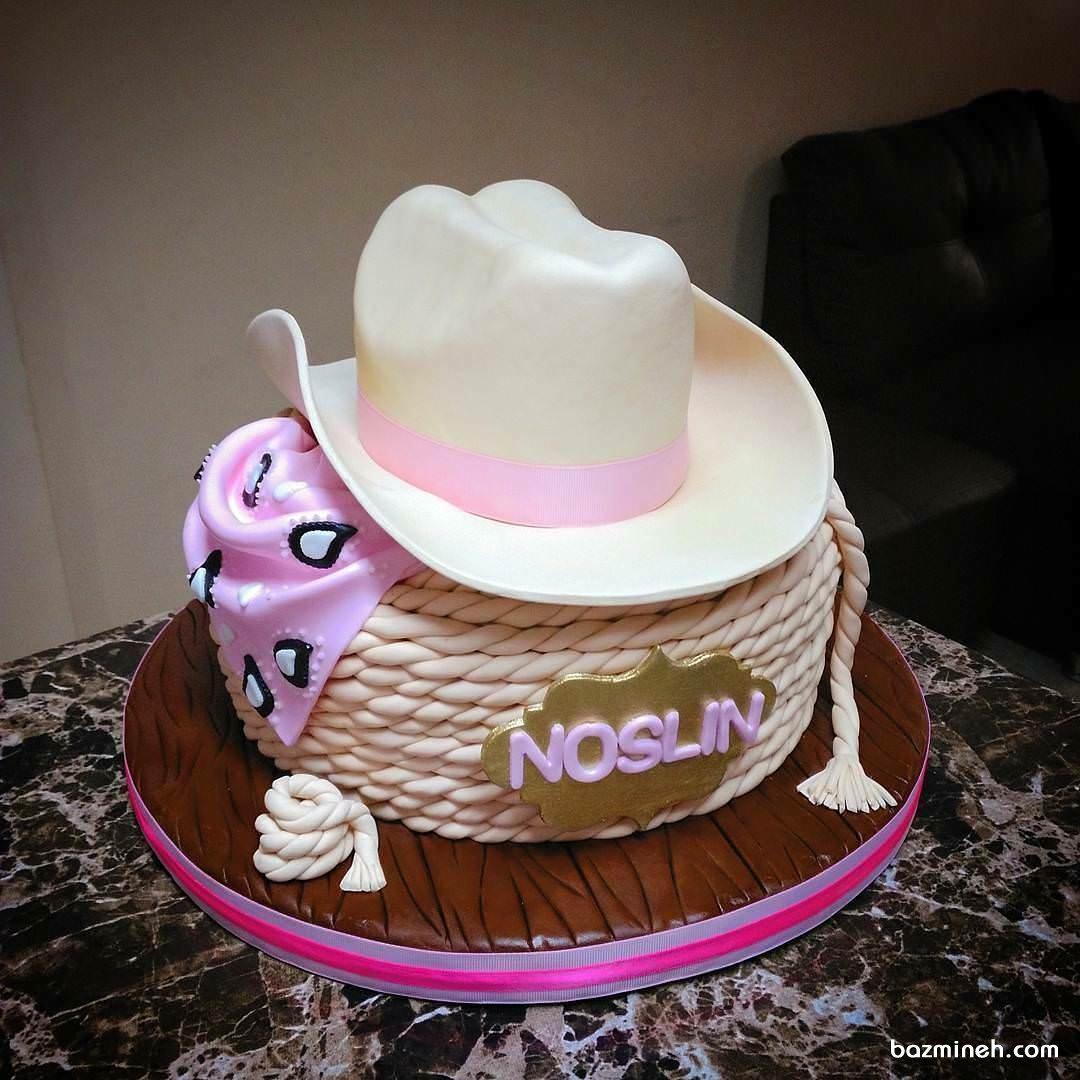 کیک فوندانت جشن تولد پسرانه با تم کابوی