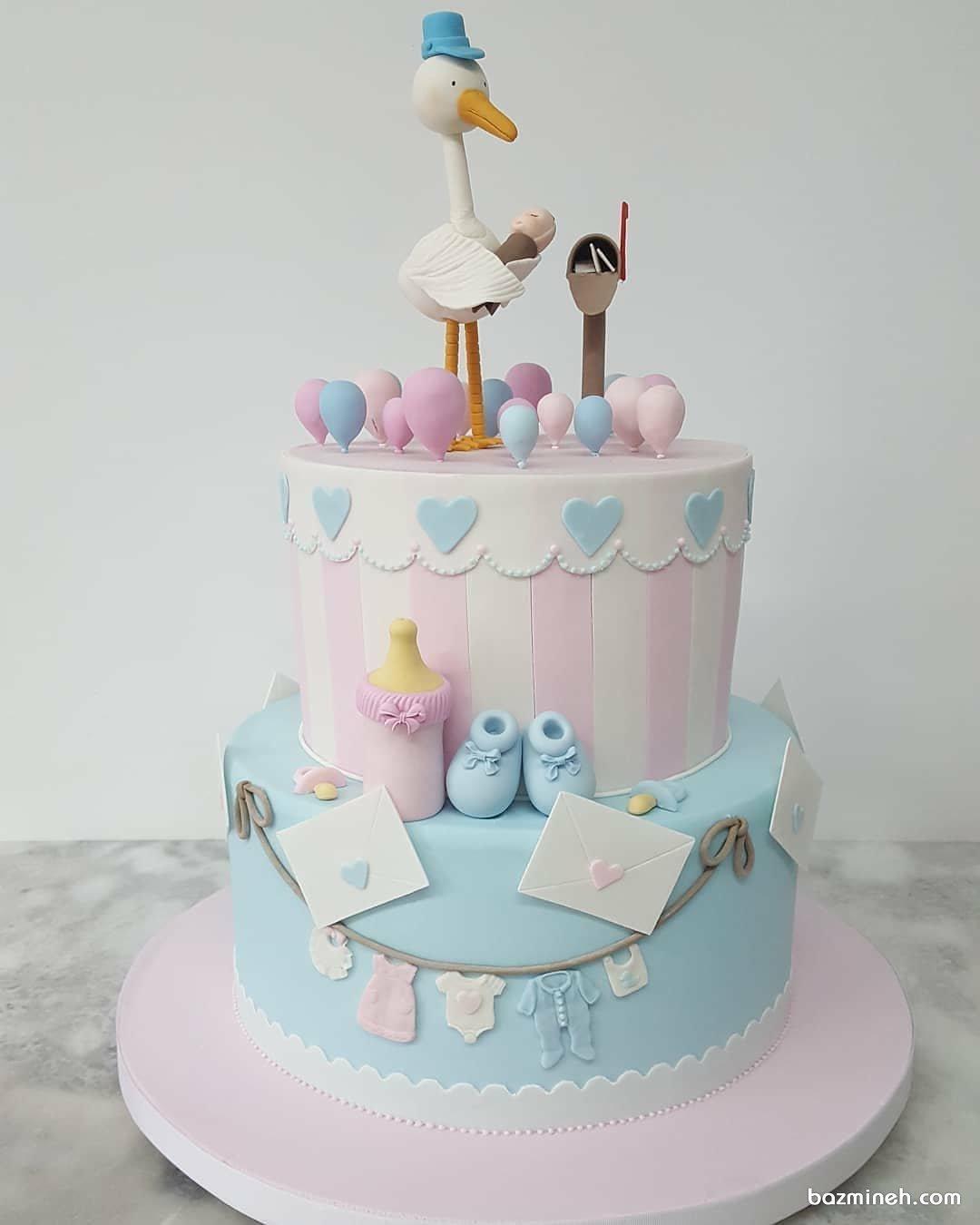 کیک فوندانت فانتزی جشن بیبی شاور