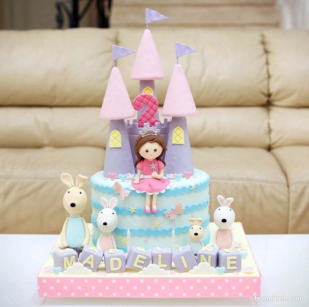 کیک فوندانت فانتزی جشن تولد دخترانه