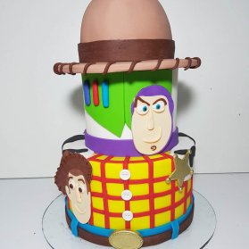 کیک فوندانت جشن تولد پسرانه با تم کارتون داستان اسباب بازی (Toy Story)