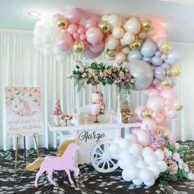 دکوراسیون و جشن تولد دخترانه با تم اسب تک شاخ (Unicorn)