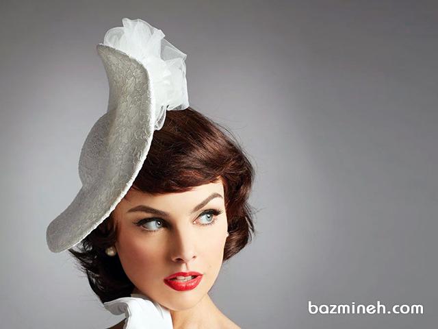 تور و کلاه استایل عروسی وینتج