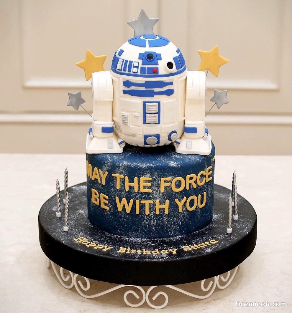 کیک فوندانت جشن تولد پسرونه با تم استار وارز (Star Wars)