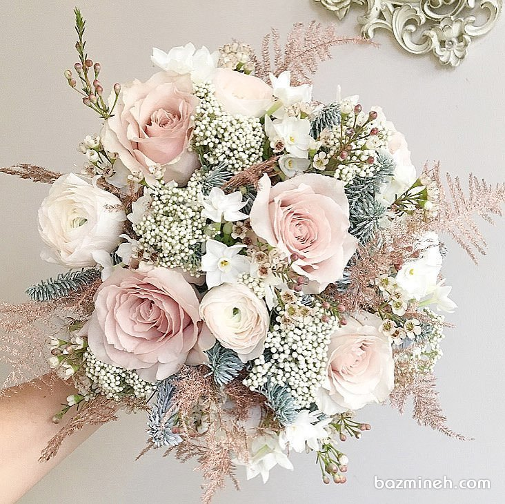 دسته گل عروس ملیح و رویایی با سبک بوهو