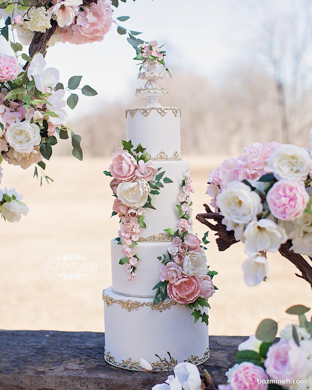 کیک زیبا و شیک جشن نامزدی یا عروسی