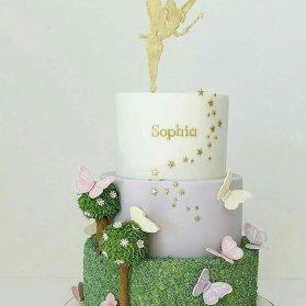 کیک فانتزی جشن تولد دخترونه با تم تینکر بل (Tinker Bell)