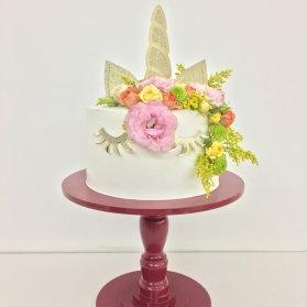 مینی کیک رویایی جشن تولد دخترونه با تم یونیکورن (Unicorn)