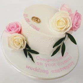 مینی کیک فانتزی جشن سالگرد ازدواج