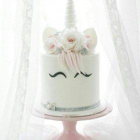 مدل زیبای کیک جشن تولد دخترونه با تم اسب تک شاخ (Unicorn)